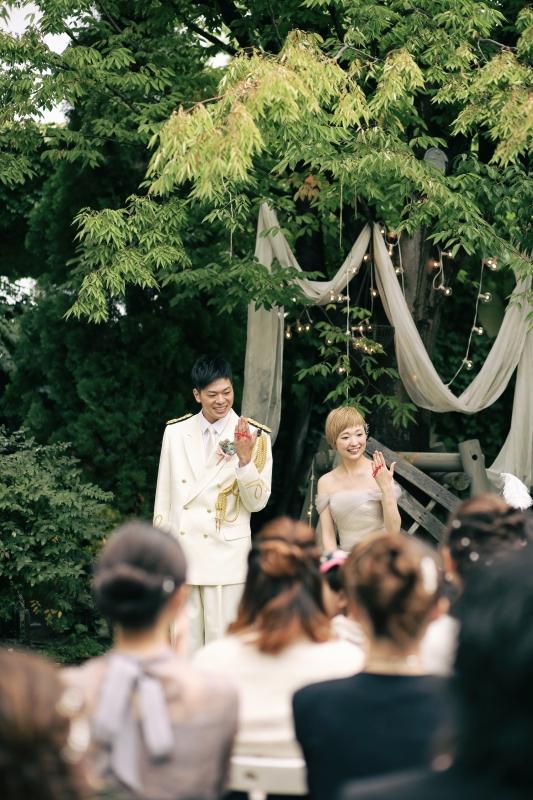 本日の結婚式 rustic wedding tree wedding 会津写遊庭